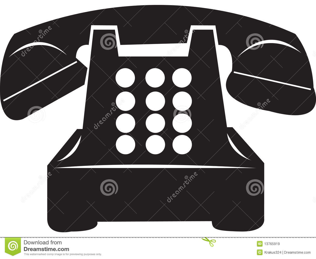 hight resolution of antique rotary telephone isolated from background