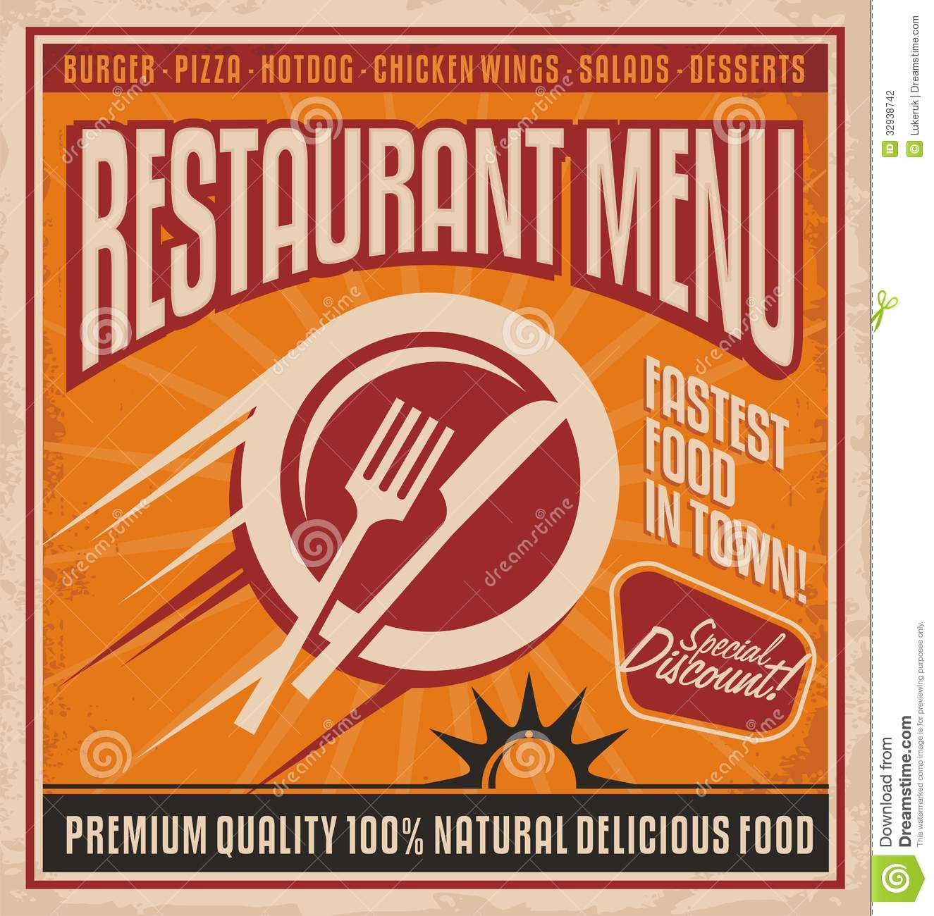vintage posters for kitchen fixtures retro poster template fast food restaurant stock