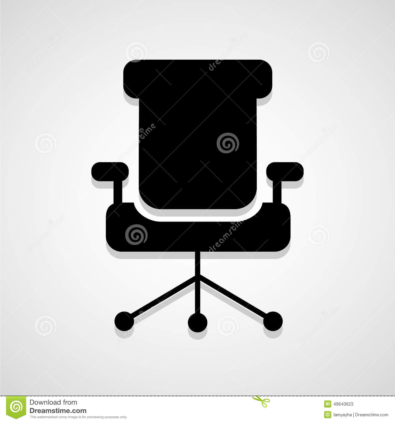 office chair vector covers north yorkshire retro style icon isolated on black background