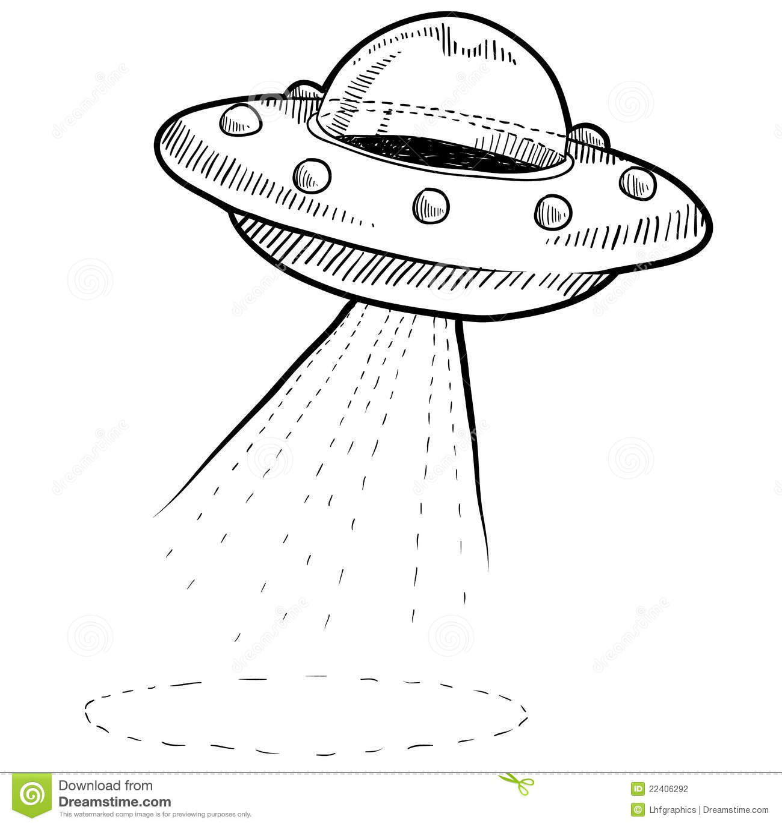 Retro Ufo Drawing Stock Vector Illustration Of Crowd