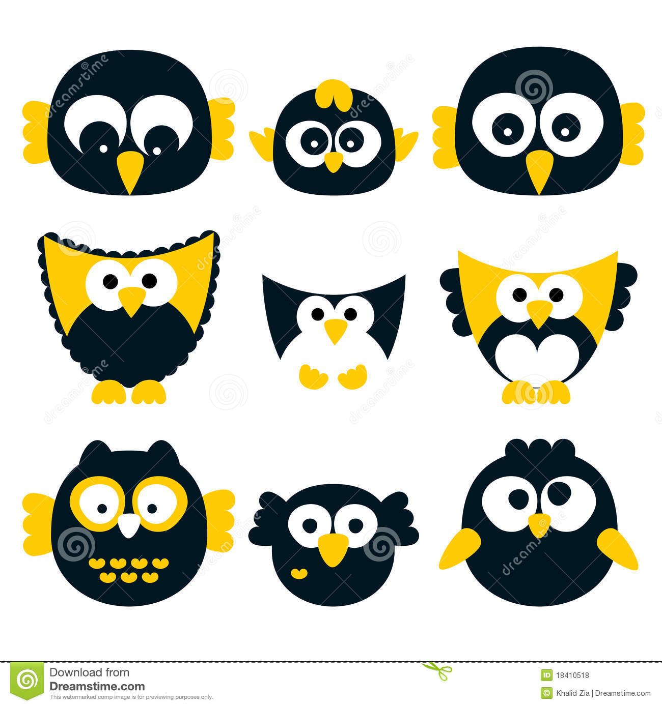 Retro Vector Owls Royalty Free Stock Photos Image 18410518