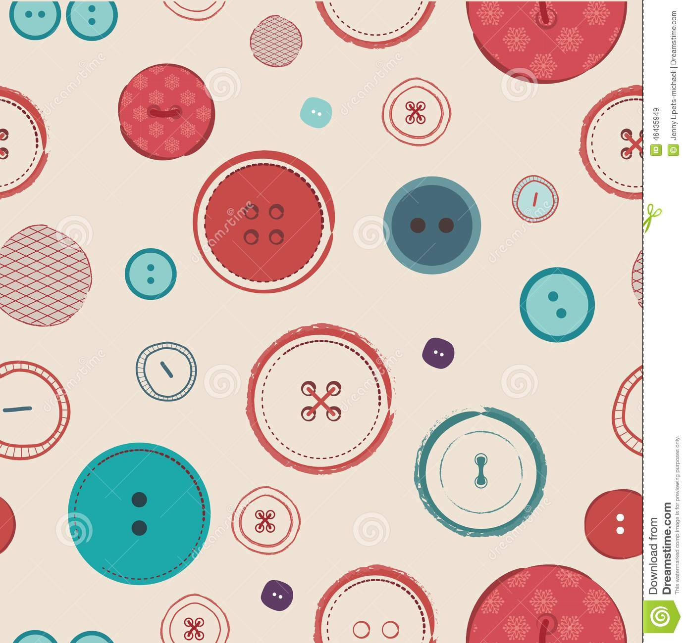 Fall Wallpaper Cartoon Retro Vector Seamless Pattern Bright Colors Buttons On