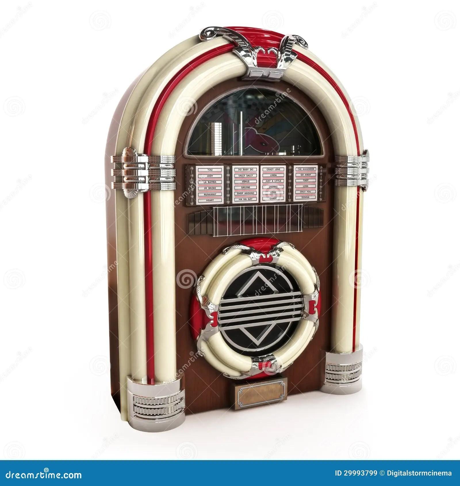 hight resolution of retro vintage jukebox on a white background 3d model royalty free illustration
