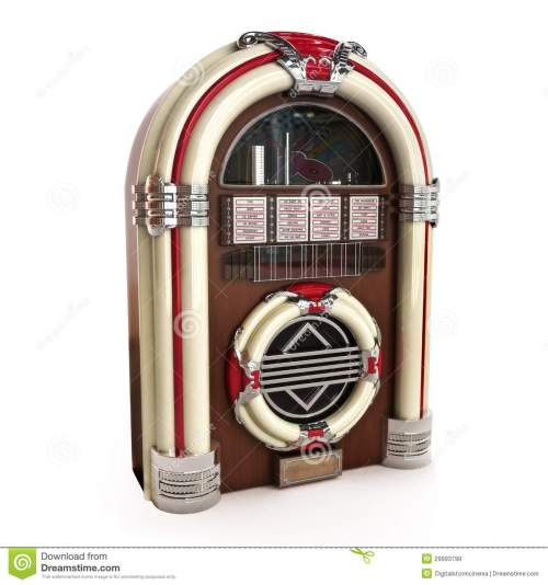 small resolution of retro vintage jukebox on a white background 3d model royalty free illustration