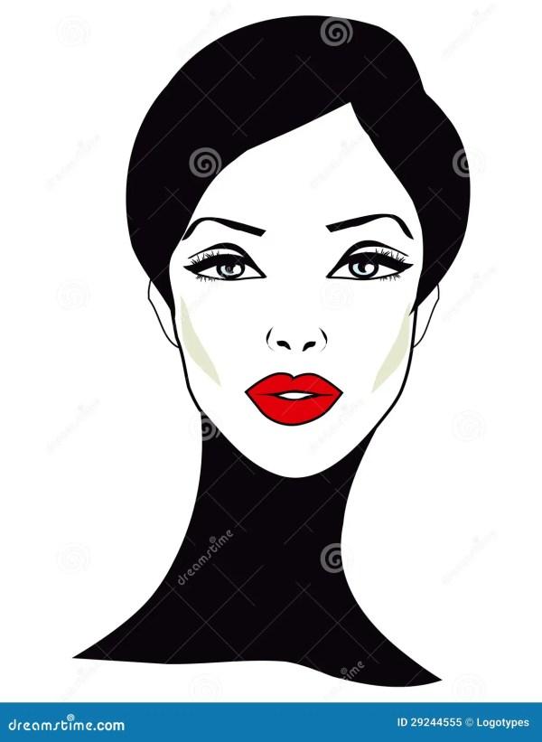 Retro Woman - Clip Art Stock Of Dreaming Females 29244555