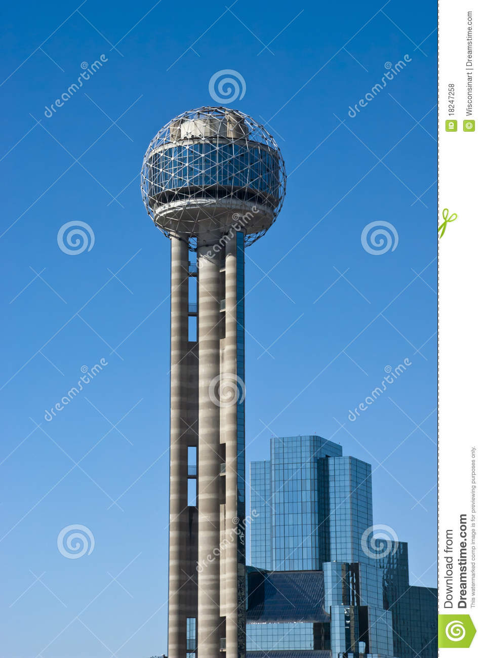 Reunion Tower In Downtown Dallas Texas Stock Photo  Image of historic texan 18247258