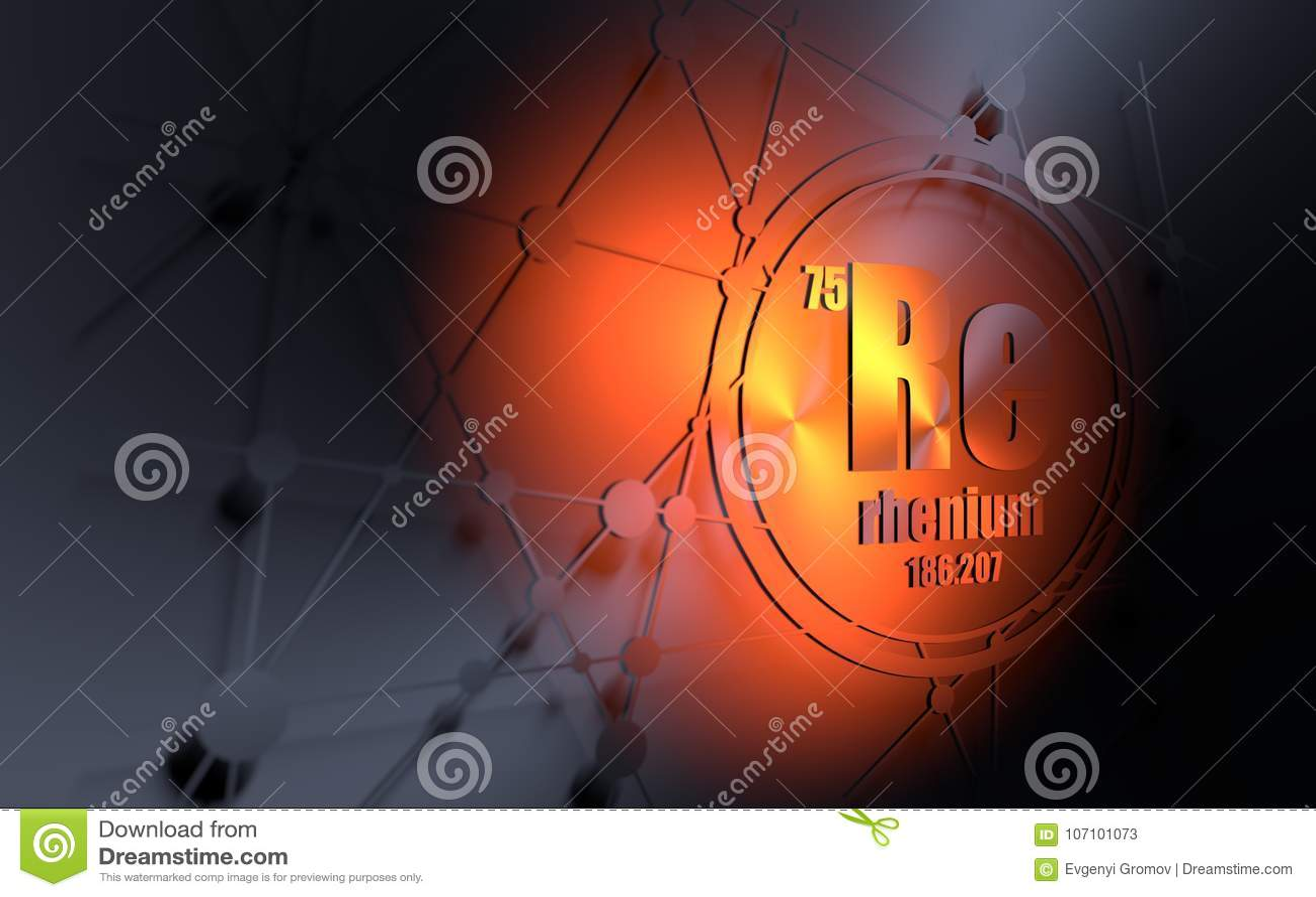 hight resolution of rhenium chemical element