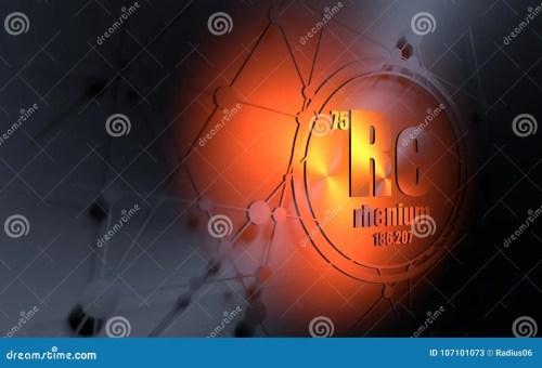 small resolution of rhenium chemical element