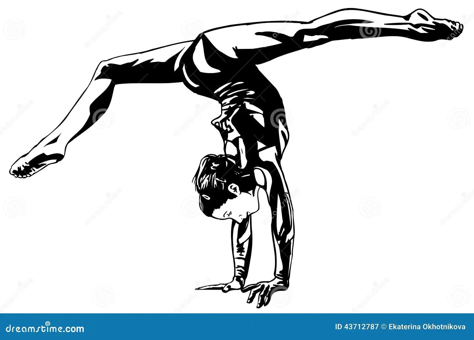 Rhythmic Gymnastics Stock Vector Illustration Of Bending