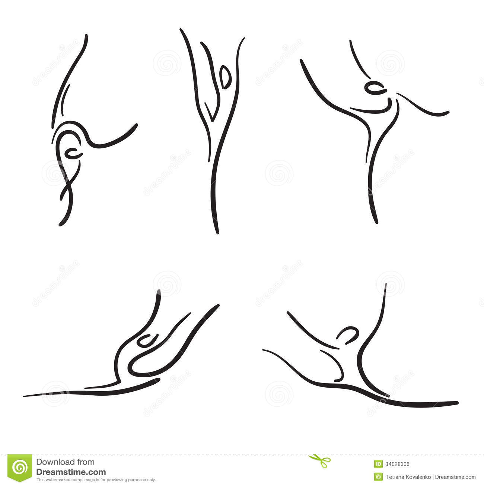 Rhythmic Gymnastics Stock Illustration Illustration Of