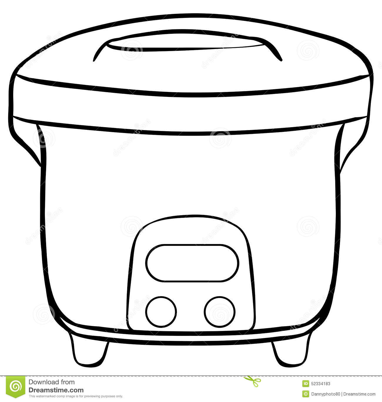 Electric Rice Cooker Diagram