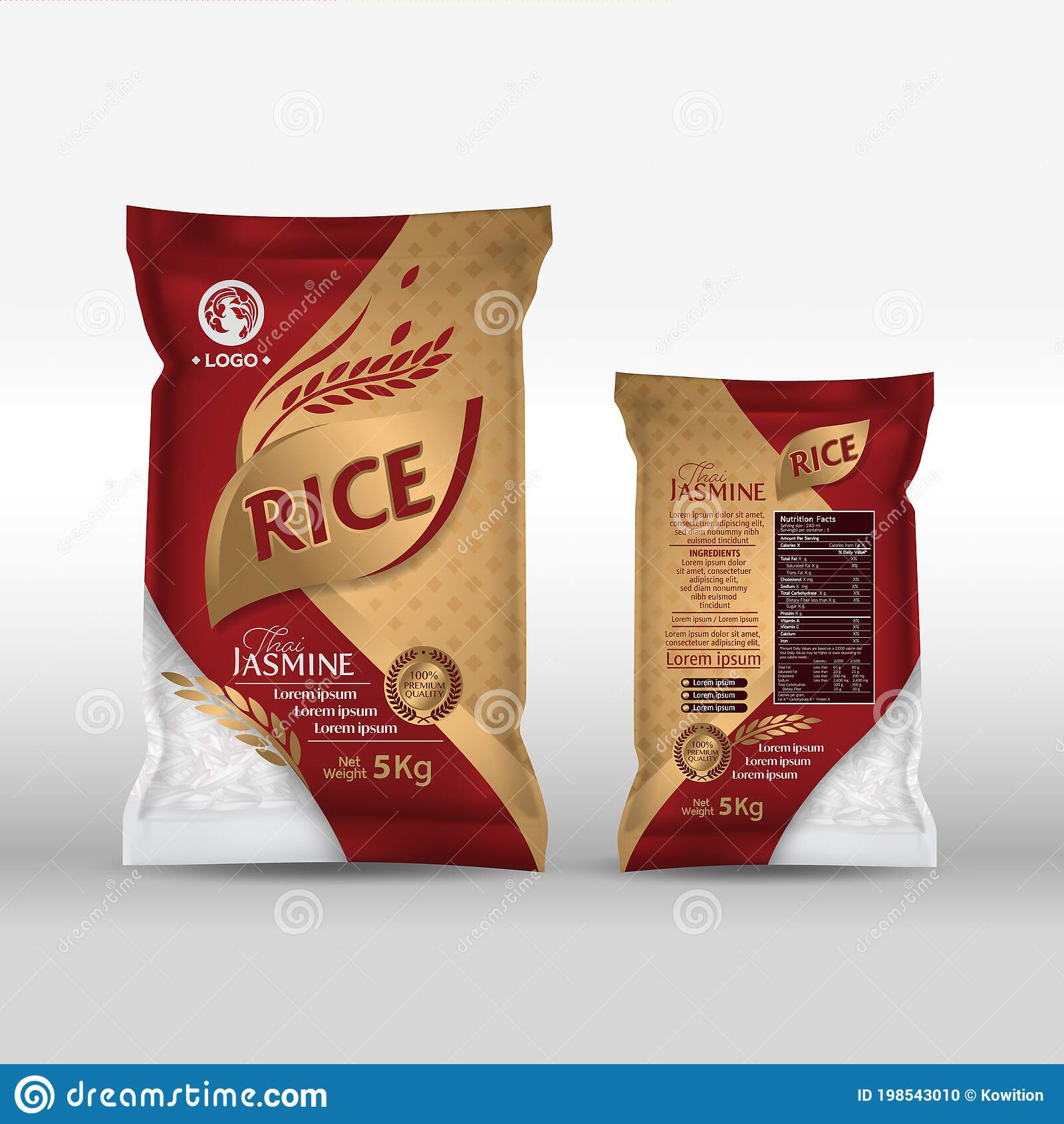 All free mockups include smart objects for easy edit. Rice Package Mockup Thailand Food Products Vector Illustration Stock Illustration Illustration Of Jasmine Healthy 198543010