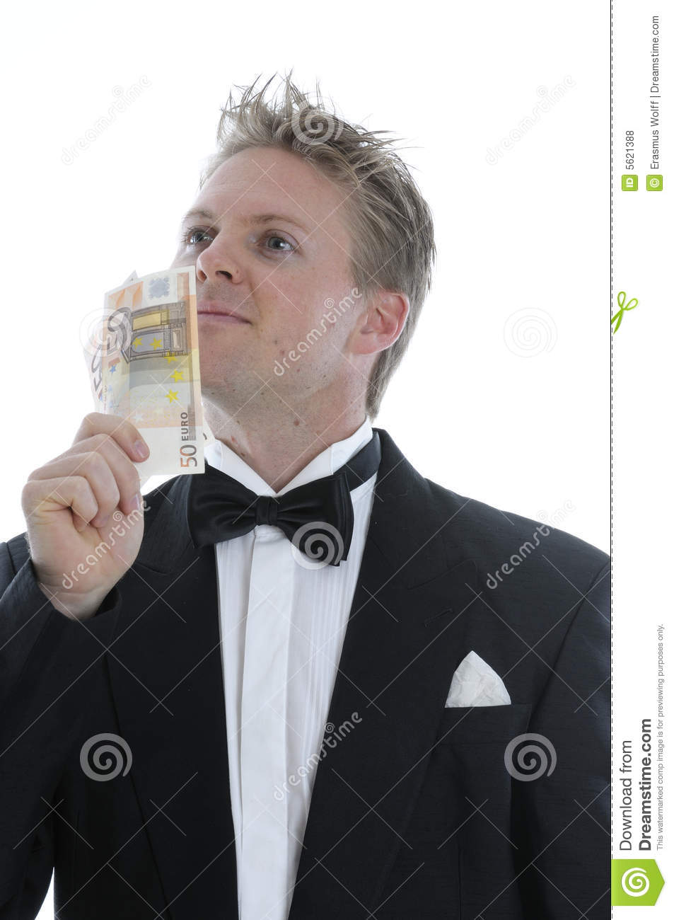 Rich Man In Dinner Jacket Royalty Free Stock Photos