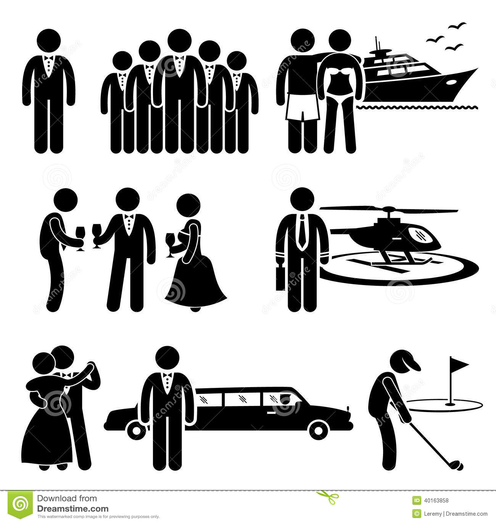 Rich People High Society Expensive Livsstilaktivitet