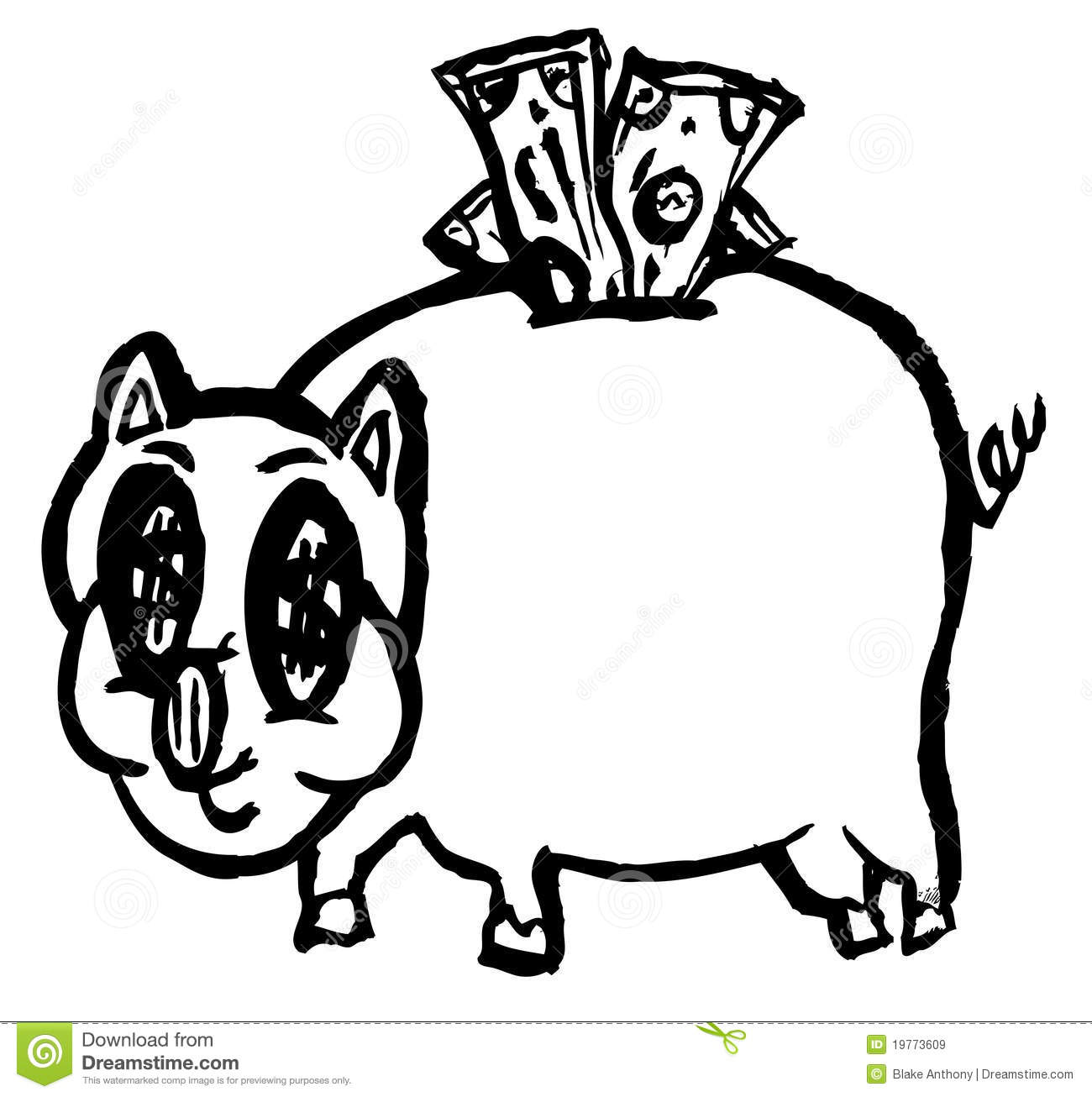 Rich Piggy Bank Royalty Free Stock Images