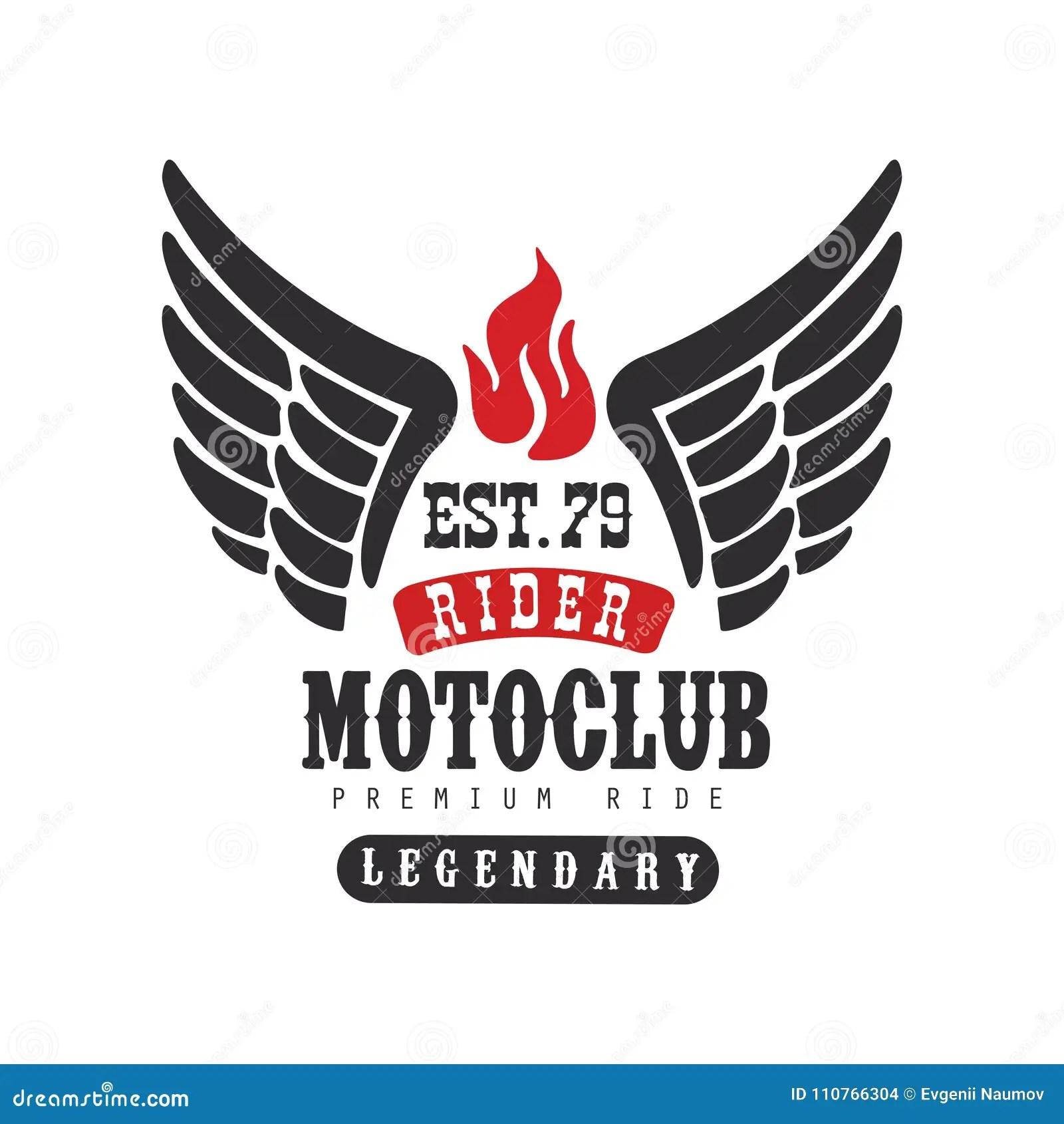 Rider Motoclub Logo, Premium Ride Est 1979, Design Element