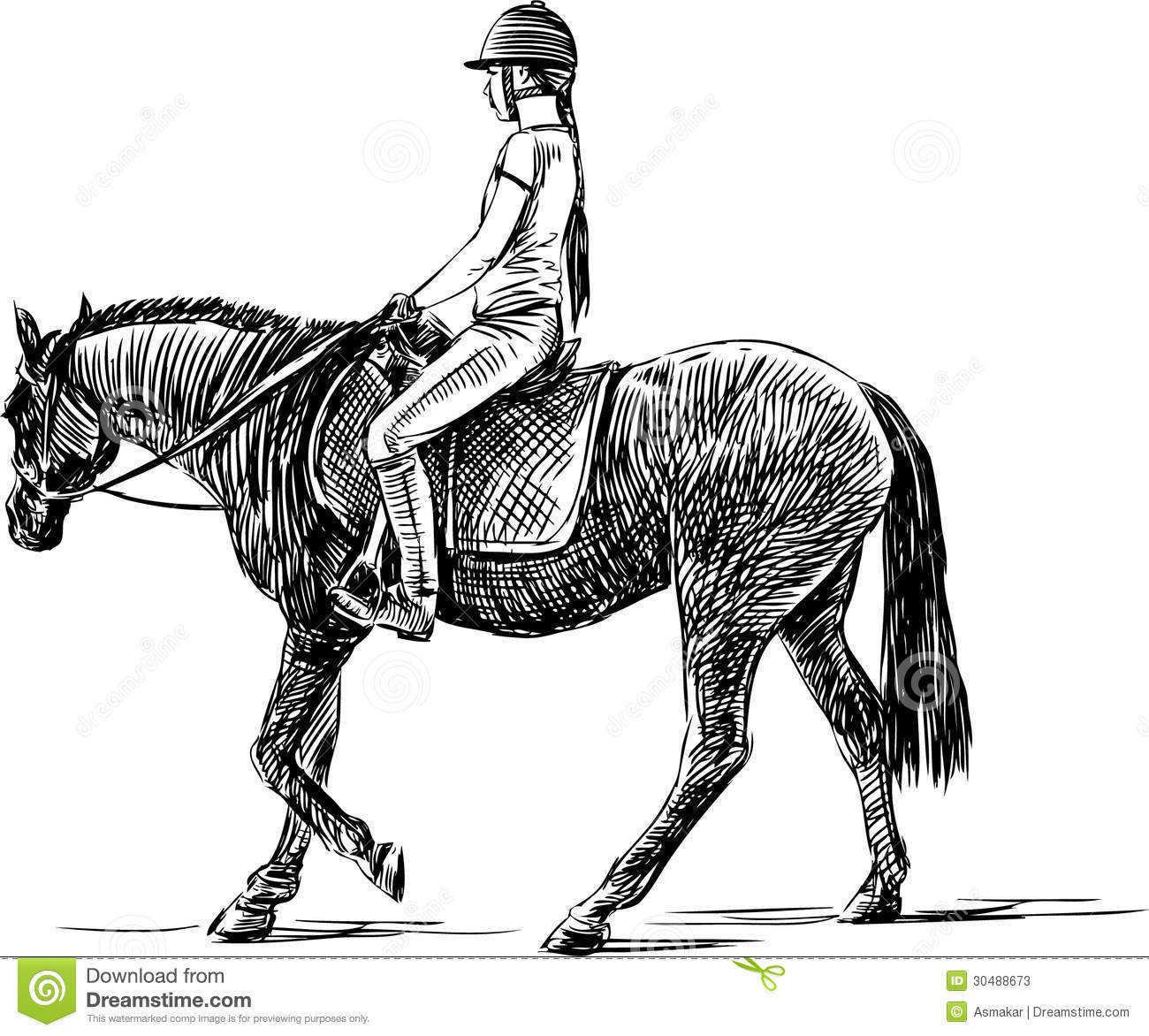 Rider Stock Vector Illustration Of Horseracing Leisure
