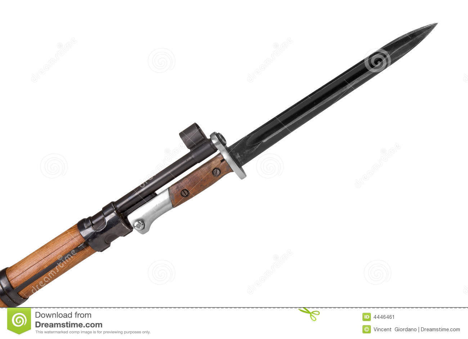 Rifle Militar Con La Bayoneta Imagen De Archivo