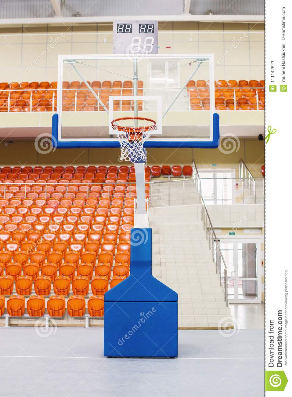 Basketball Chairs Ring And Shield For Playing Basketball Orange Chairs Stand In A