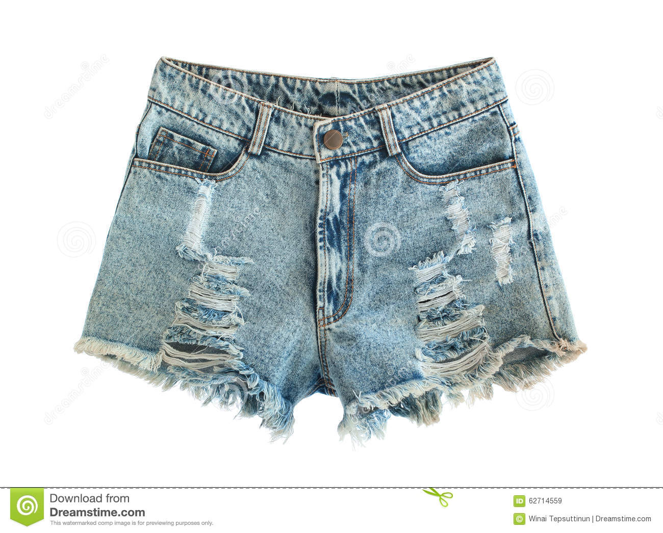 Ripped jeans shorts stock image Image of jeanswear