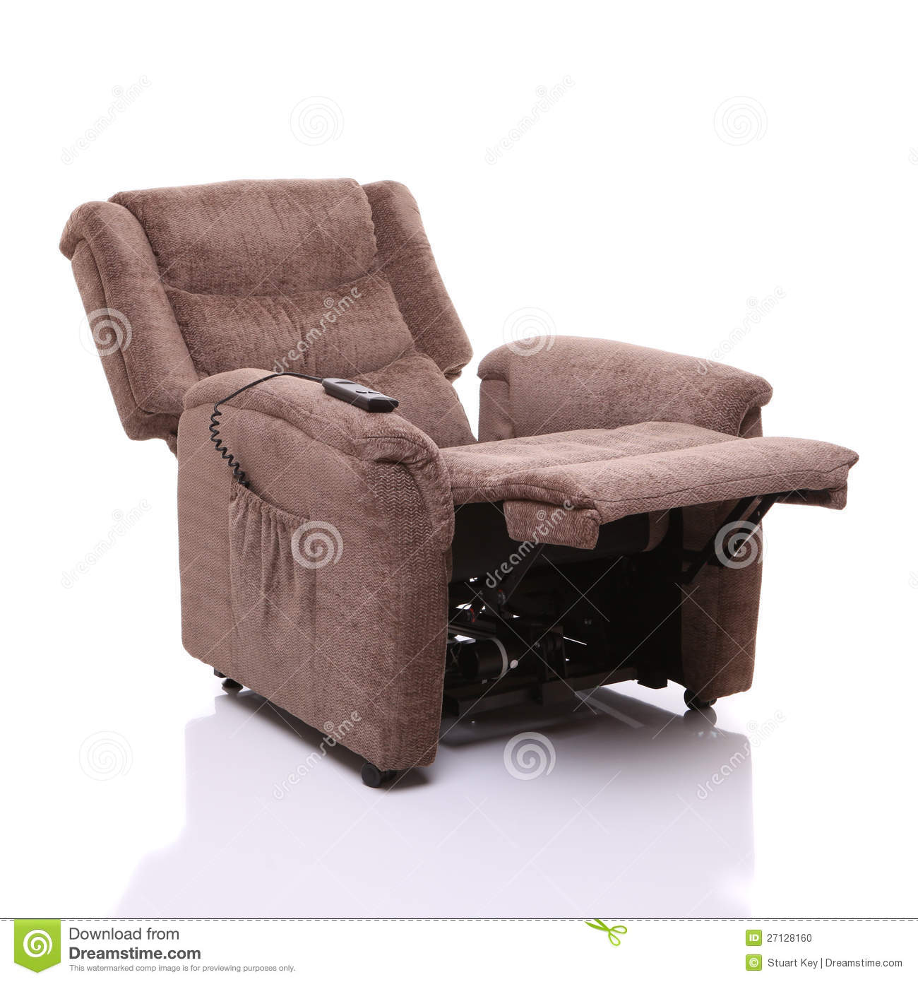electric reclining chairs for elderly big joe milano bean bag chair canada rise and recline fully reclined stock photo