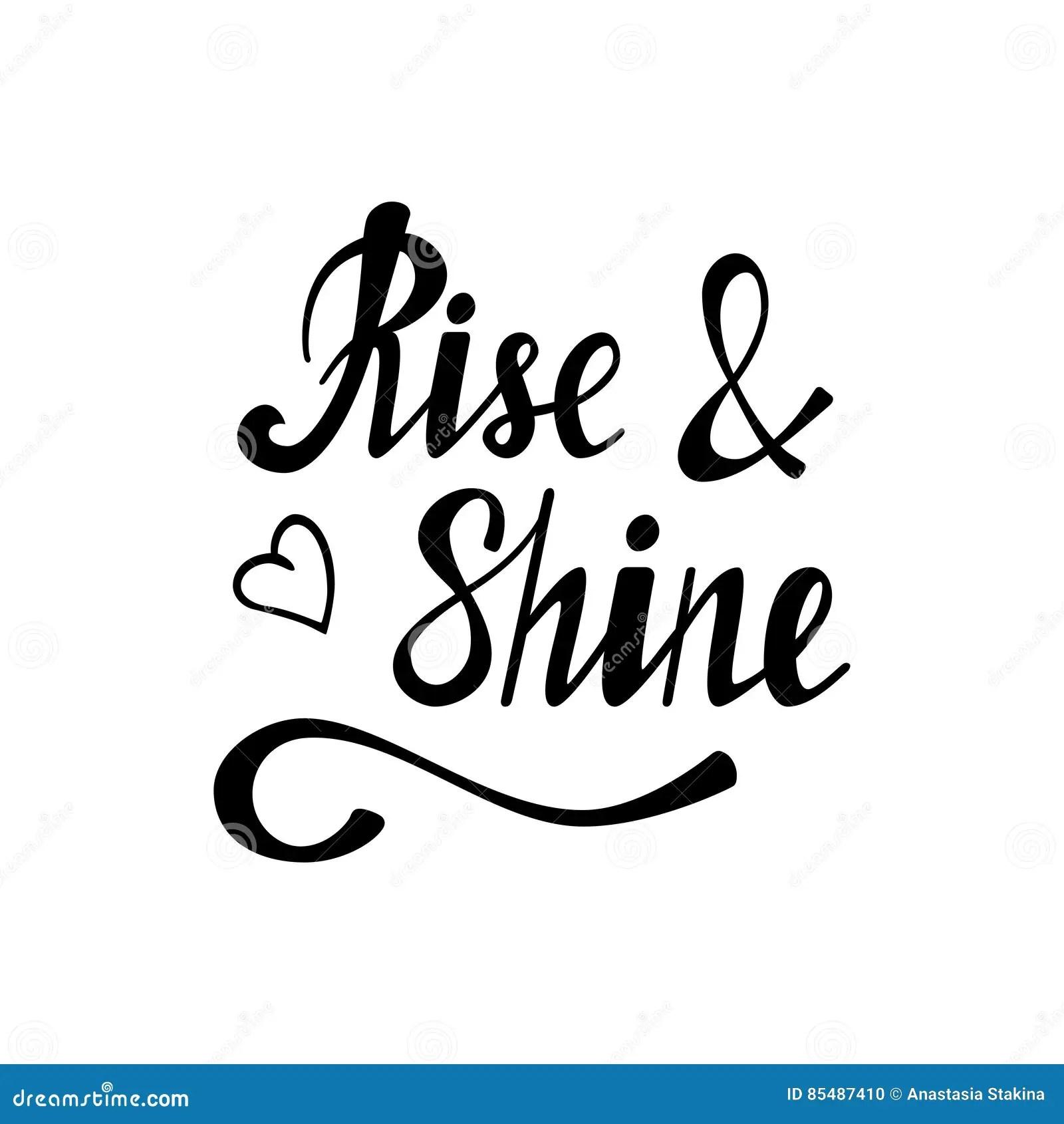 Rise And Shine Cartoon Vector