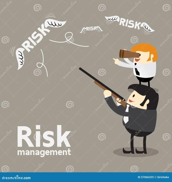 Risk Management Cartoon Concept Stock Vector