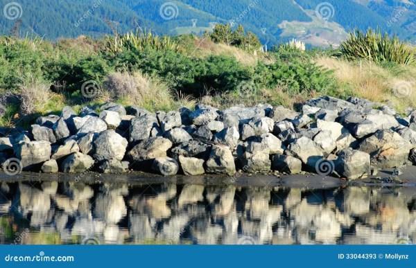 riverbank landscape stock