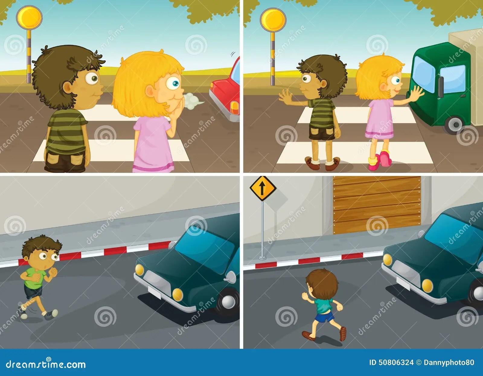 Road Crossing Stock Vector Illustration Of Crossing