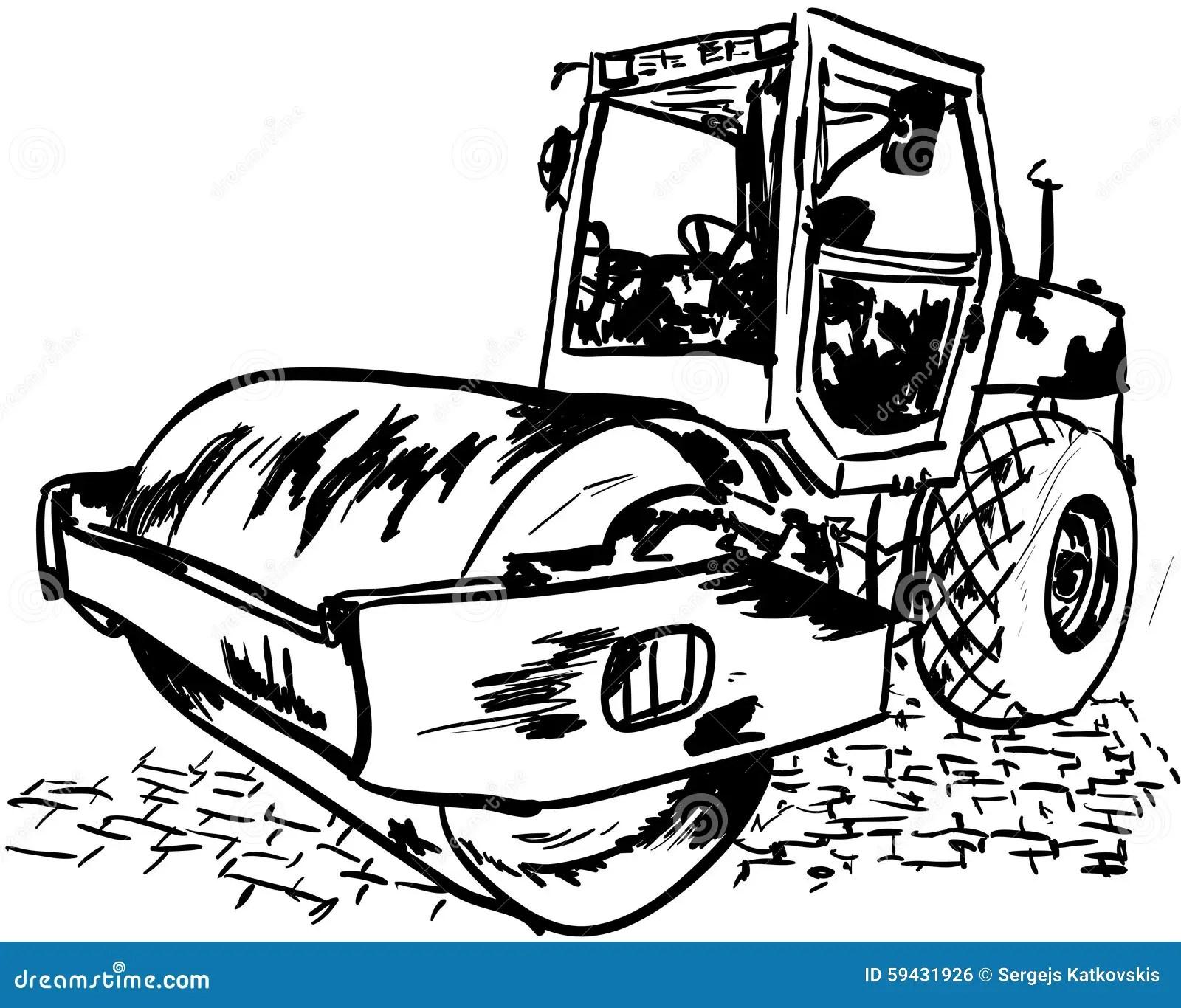 Road Roller Stock Illustration Illustration Of Pressure