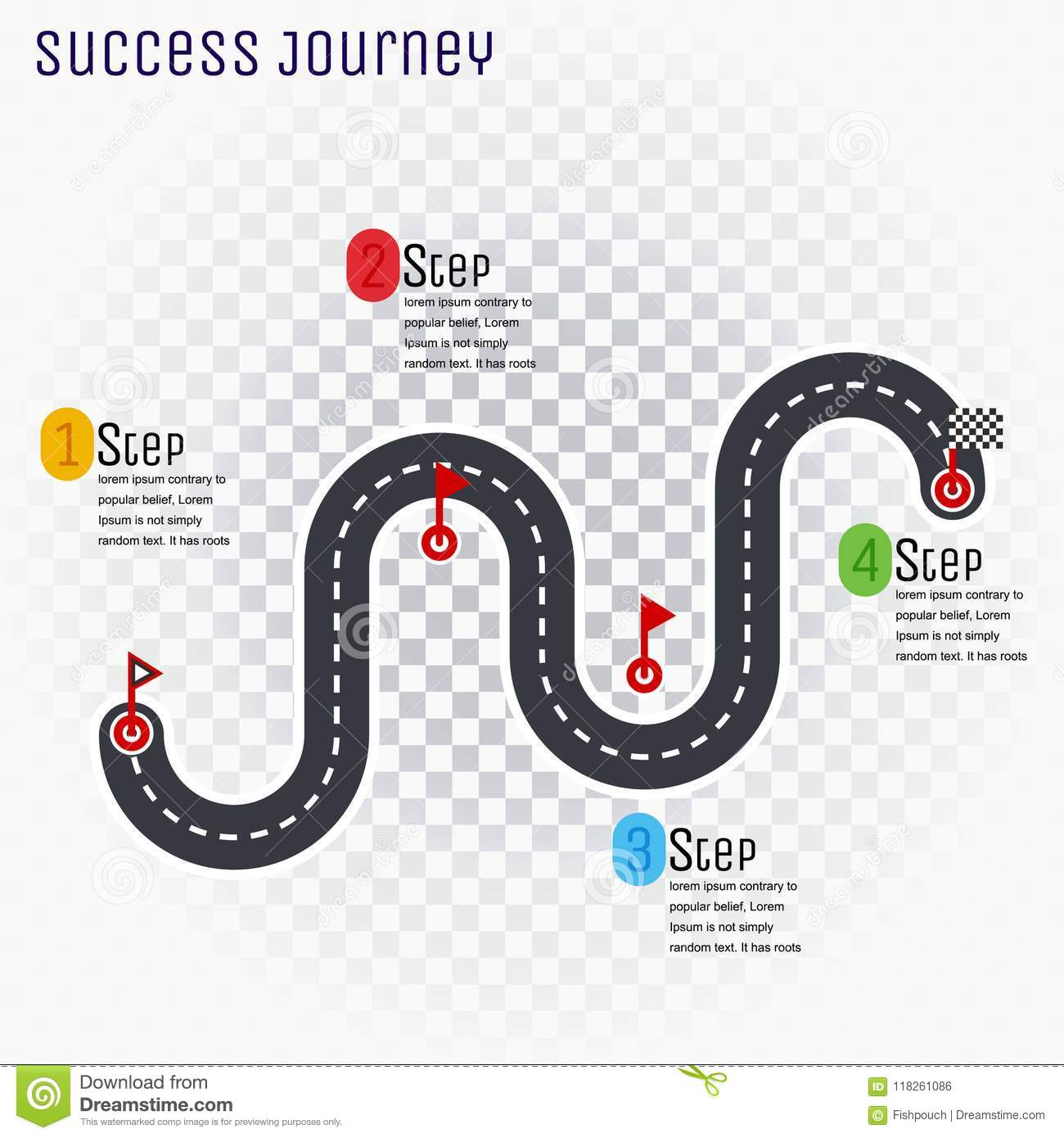Roadmap Timeline Infographic Design Template, Key Success