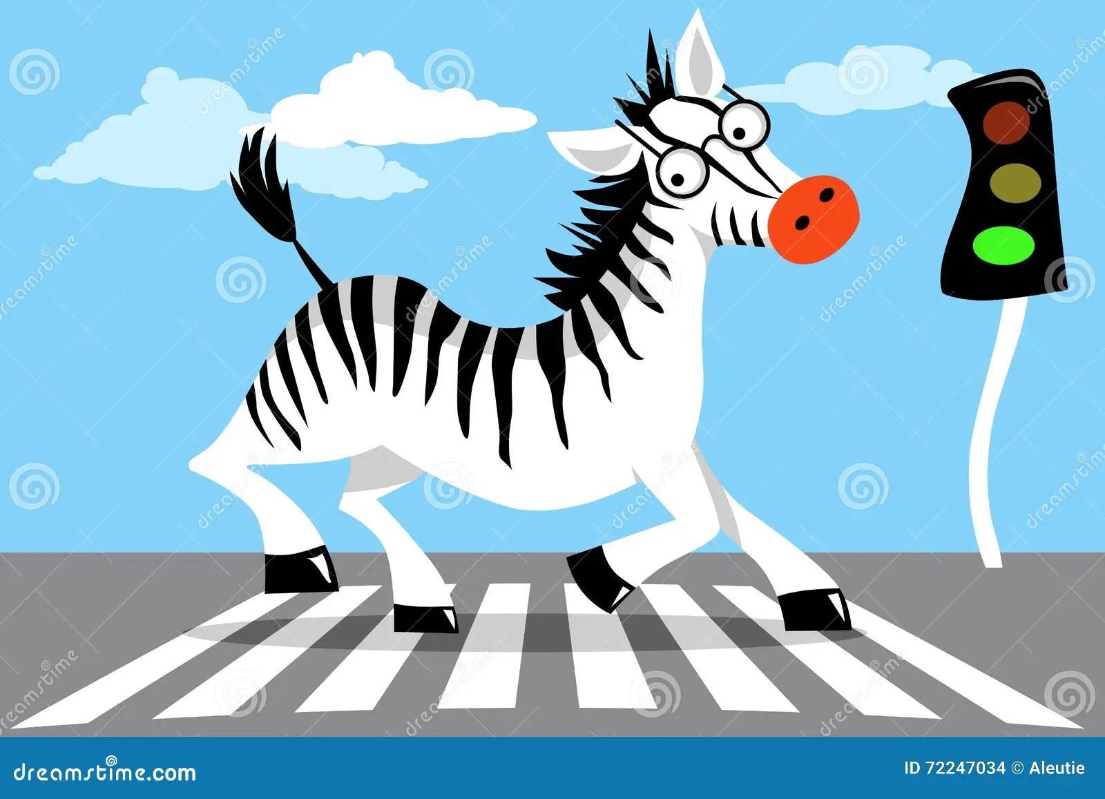 Road Safety Zebra Stock Vector Illustration Of Children