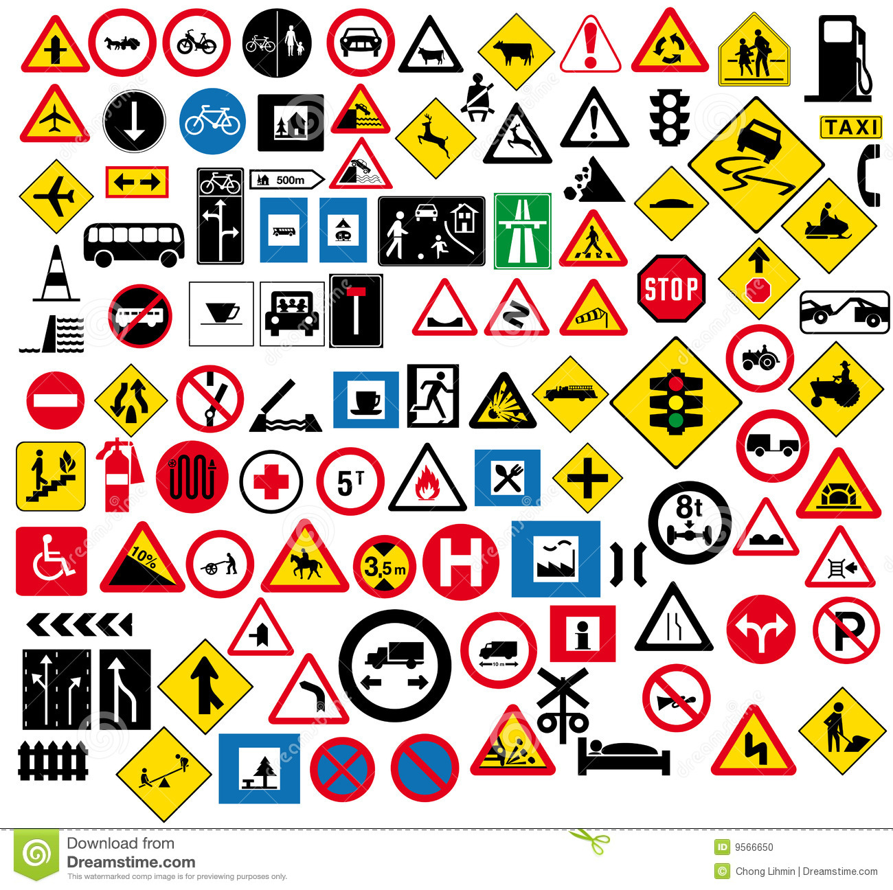 Road Sign Stock Vector Illustration Of Motorway Local
