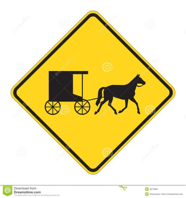 Road Sign Warning - Horse Draw Stock Vector Illustration Of Silhouette Traffic 4973669