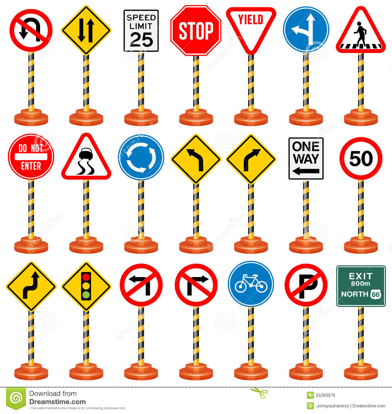 Road Signs Traffic Signs Transportation Safety Travel
