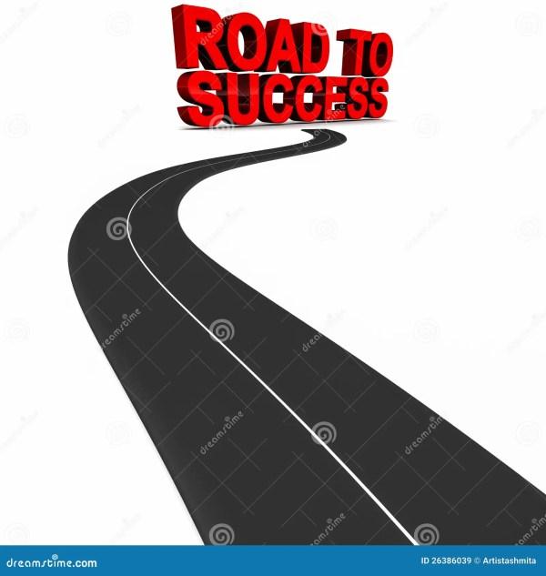 road success stock illustration