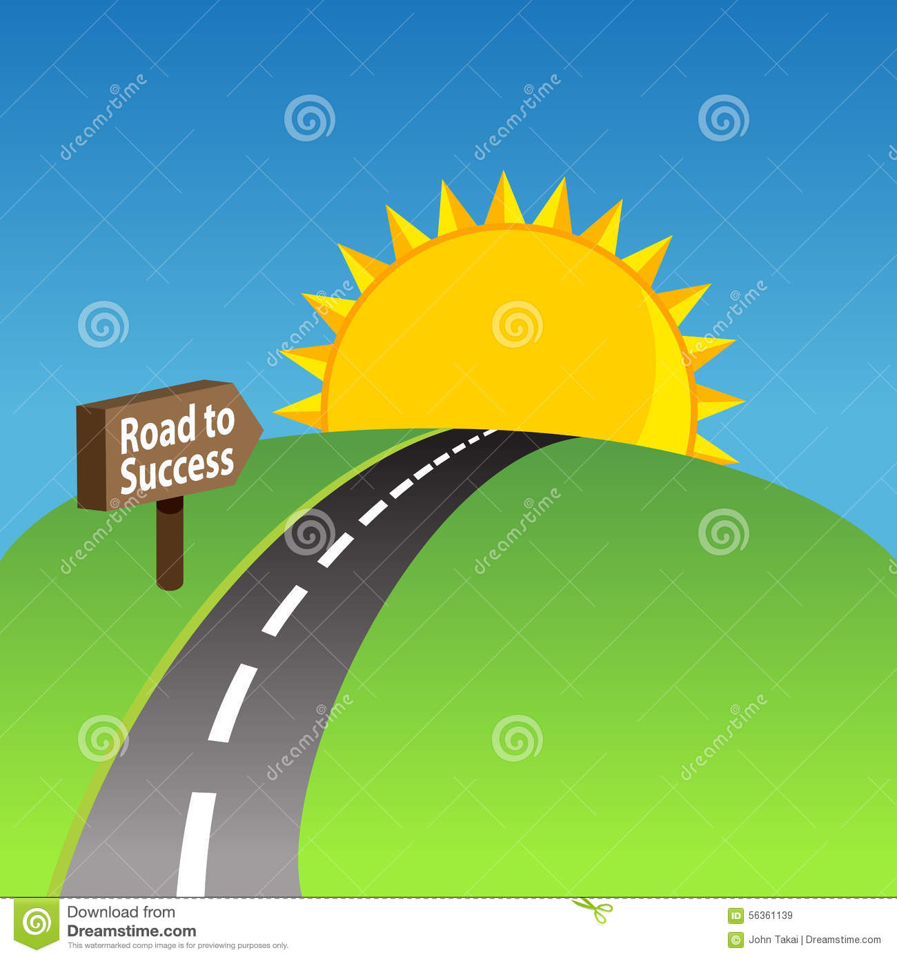 Road To Success Background Stock Vector