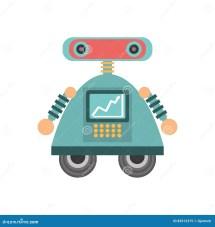 Robot Android Automation Icon Stock Illustration