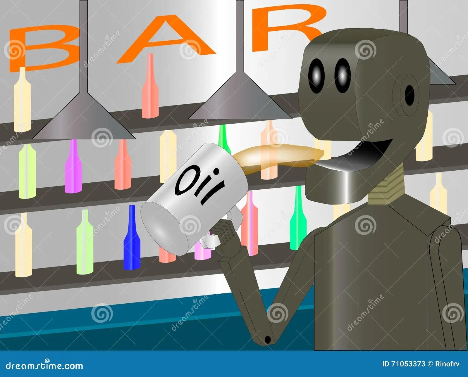 robot at the bar