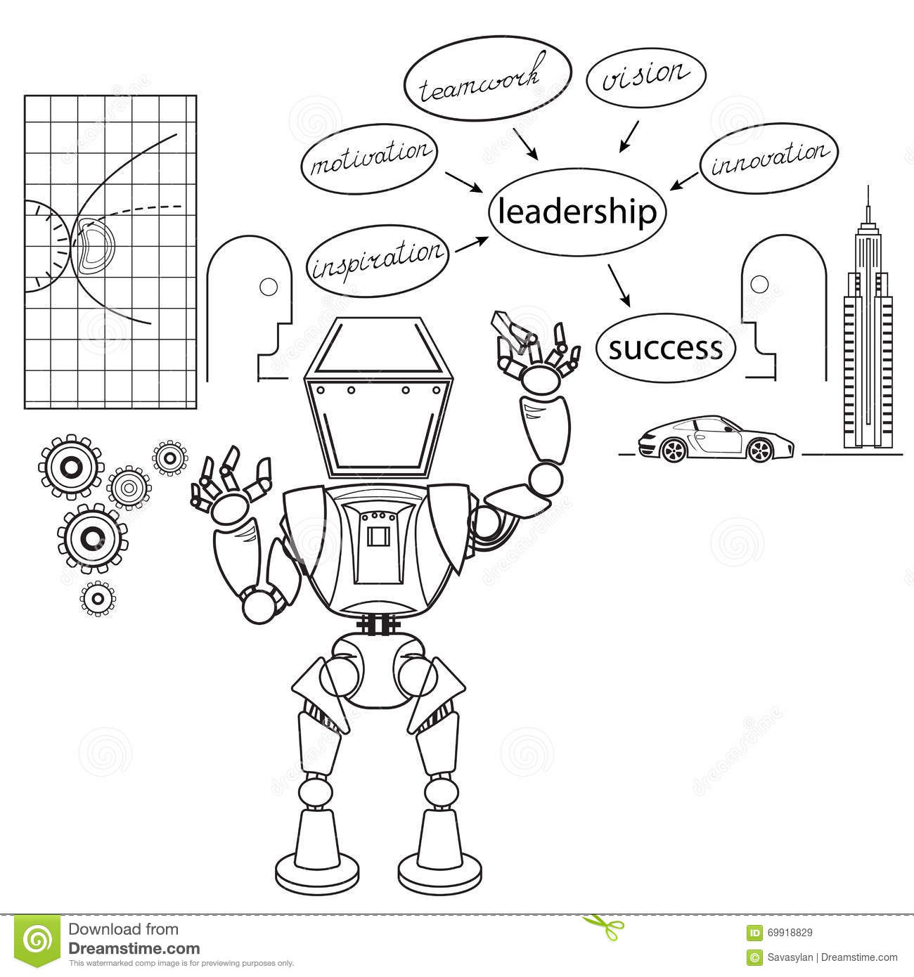 Robot Stock Vector Illustration Of Best Competition