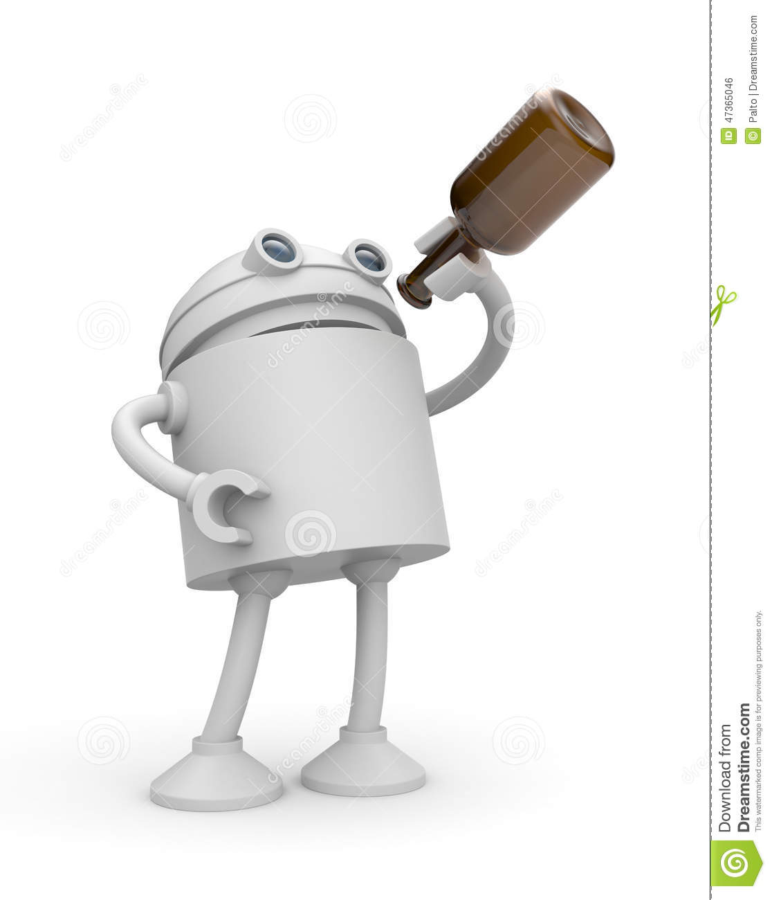 robot drink alcohol stock