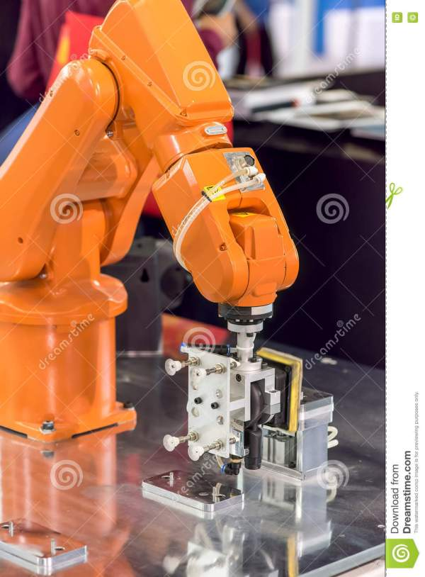 Robotic Production Line Cartoon Vector