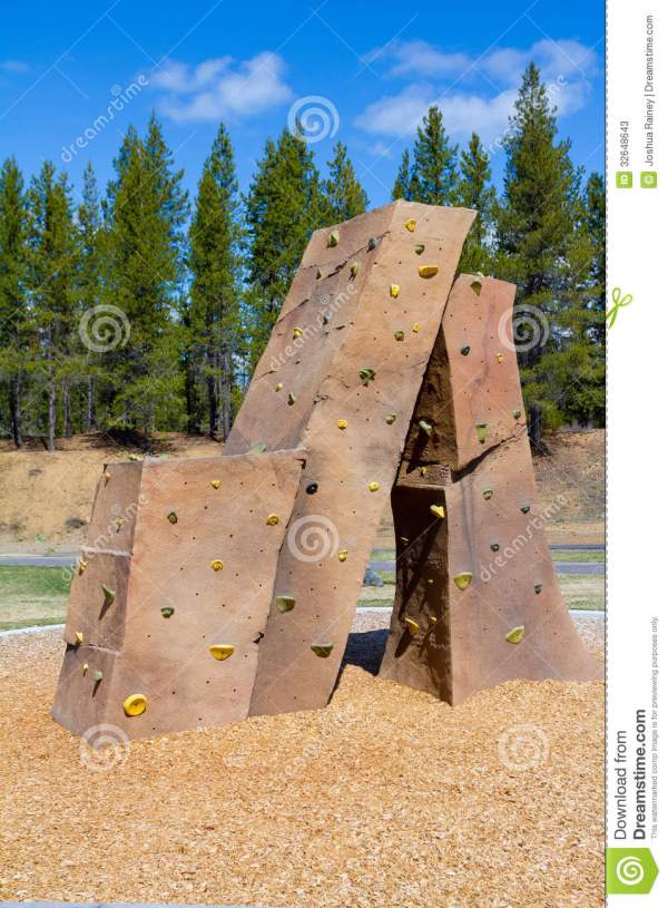 Rock Climbing Wall Park Stock Of Outdoor - 32648643