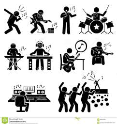 rock star musician music artist with musical instruments clipart [ 1300 x 1390 Pixel ]