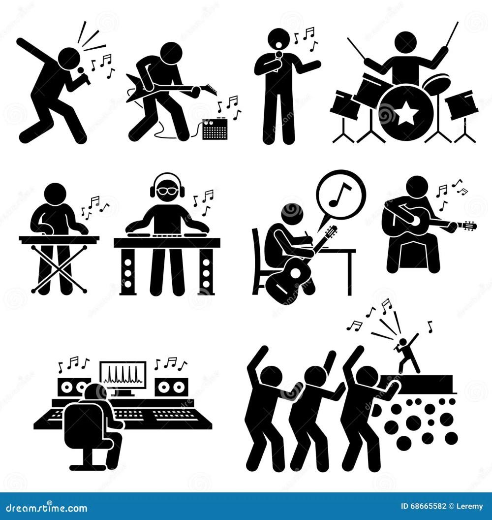 medium resolution of rock star musician music artist with musical instruments clipart