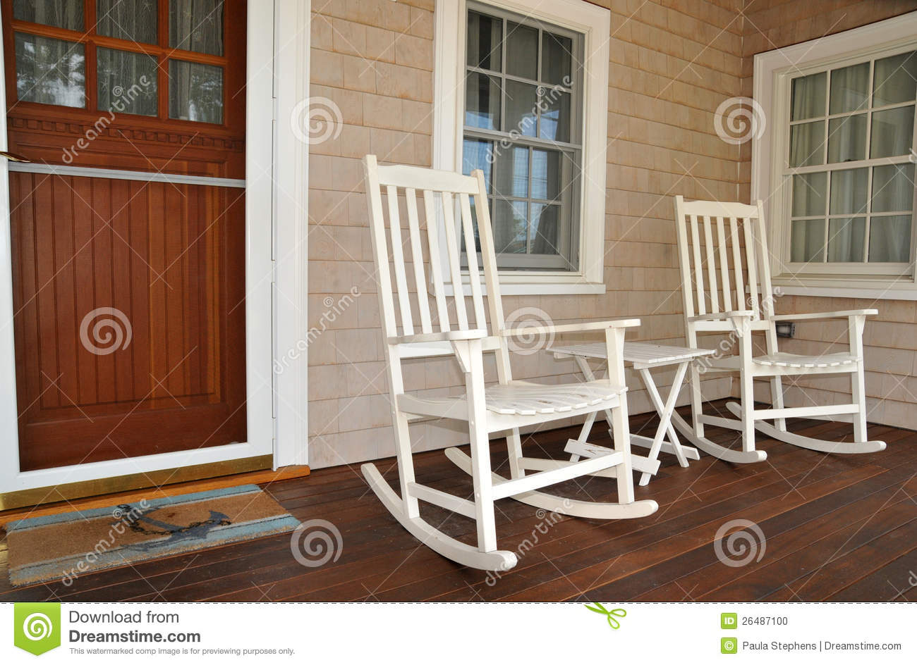 old fashioned rocking chairs xl desk chair on porch stock photo image 26487100