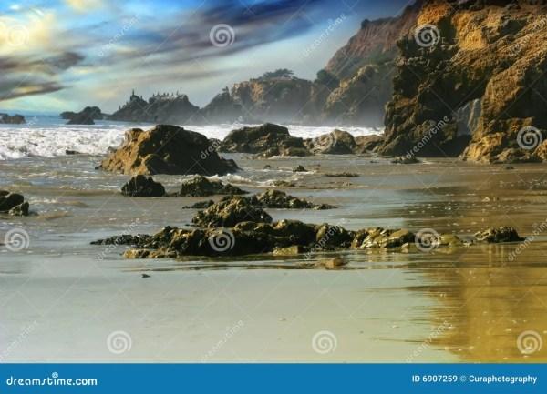 rocky beach landscape royalty free