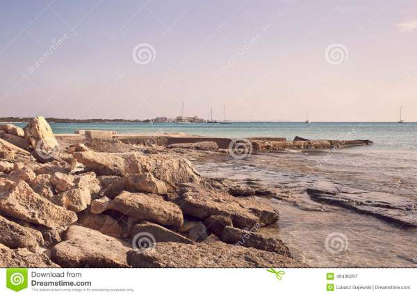 rocky beach stock