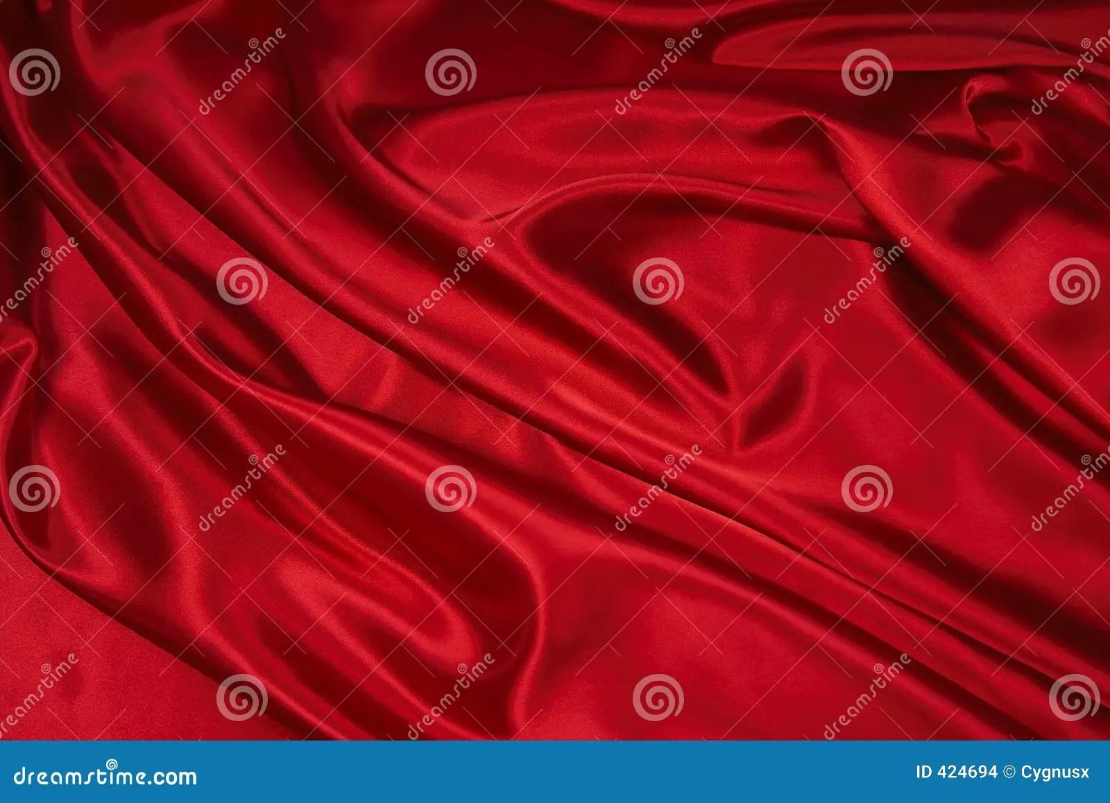 Rode Stof 1 Van Het Satijnvan De Zijde Stock Foto