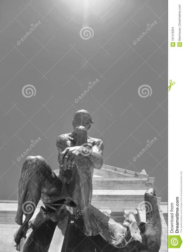 Rodin Thinker In Front Of Cleveland Museum Art Stock - 101416354